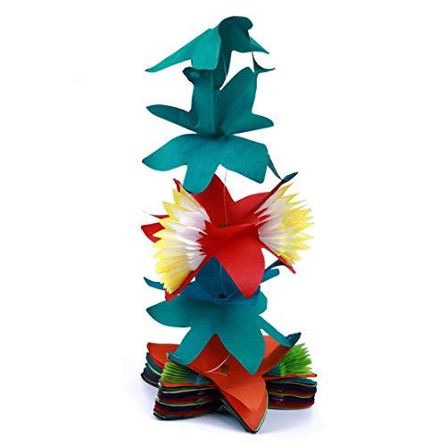 i Stil Bunte Gewebe Blume Girlande Geburtstag Papier Blume Garland Festival Ornament Party Home Dekoration(Foto Farbe) ()