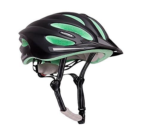 HUDORA Fahrrad-Helm Basalt Damen Herren, Fahrrad-Helm Rad-Helm Gr. 55-59, schwarz/grün