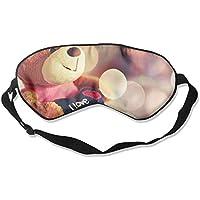 I Love You Teddy Bear Hearts Wide 99% Eyeshade Blinders Sleeping Eye Patch Eye Mask Blindfold for Travel Insomnia... preisvergleich bei billige-tabletten.eu