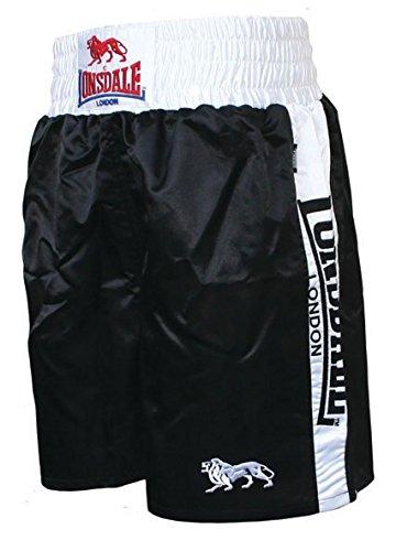 Lonsdale Erwachsene Boxing Hose Pro Lüftungs, schwarz/weiß, M, 402428