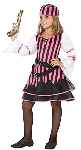 Fancy Me Mädchen rosa gestreift Pirat Halloween Karneval Kostüm Outfit 3-12 Jahre