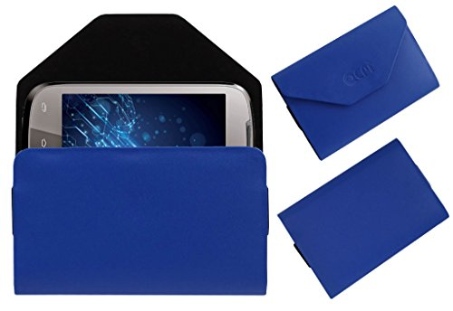 Acm Premium Pouch Case For Lava Xolo A500 Flip Flap Cover Holder Blue  available at amazon for Rs.329