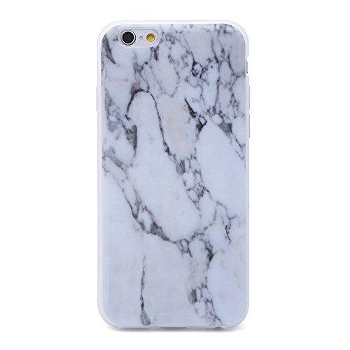 iProtect TPU Schutzhülle Apple iPhone 6 Plus / 6s Plus Softcase Hülle Marmor Edition in weiß schwarz dezent marmoriert Marmoriert weiß grau