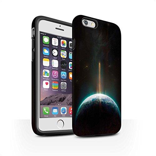 Offiziell Chris Cold Hülle / Matte Harten Stoßfest Case für Apple iPhone 6S / Exoplanet Muster / Galaktische Welt Kollektion Phönix/Raumzeit