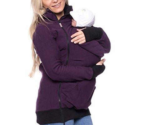 Aiffer Damen Tragejacke für Babytrage Sweatshirt für Mama und Baby 3in1 Känguru Jacke Mutterschaft Multifunktions Klassiker Baby Wearing Fleecepullover Umstandsjacke. (Mutterschaft-jacke)