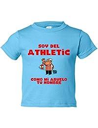 c32a4cdf24ee7 Camiseta niño soy del Athletic de Bilbao como mi abuelo personalizable con  nombre