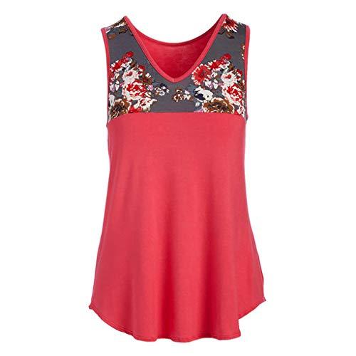 Axong Tunique Blouse pour Femme Pleats Imprimé Patchwork Grande Taille Été Décontractée T-Shirts Nouveau 2019