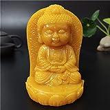 DIAOSUJIA La Meditazione Giallo Statua del Buddha Man-Made in Pietra di Giada Tathagata Monaco Figurine Scultura Decorativa Giardino Statue di Buddha per L'Arredamento della Casa