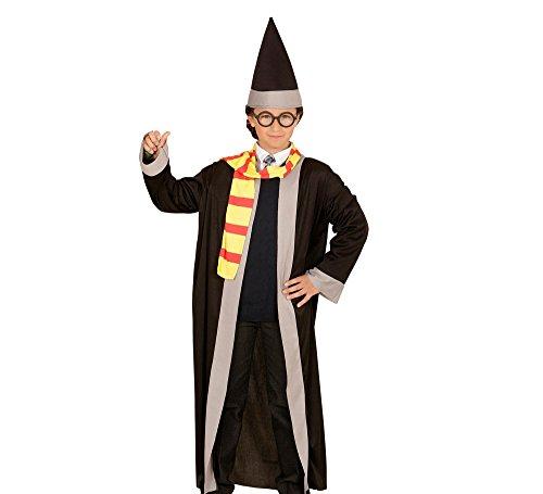 Widmann 01146 - Kinderkostüm Zauberer, Robe, Schal und Hut, (Ideen Hexenmeister Kostüme)