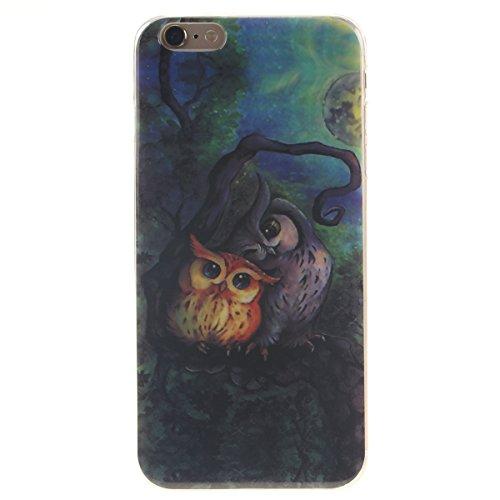 """iPhone 6S Etui, Coque Case de Protection pour Apple iPhone 6 6S 4.7"""" Anti Choc, Très Mince Poids Léger TPU Joli Coloré Peinture Motif Serie - Totem Fleur Noir-4"""