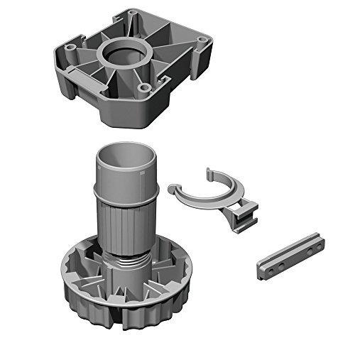 20 Stück - GedoTec Möbelfüße Sockelfüße höhen-verstellbar Kunststoff schwarz | Küchen-Fuß Höhe 100 mm | KOMPLETT SET | Verstellfüße 500 kg Tragkraft | Markenqualität für Ihren Wohnbereich