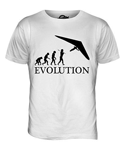 CandyMix Hängegleiter Evolution Des Menschen Herren T Shirt Weiß