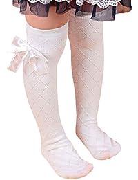 5b26b374c Bluelans® Childrens Girls Lovely Bow White Knee High School Socks Stockings