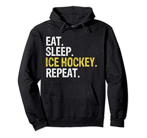 Eat Sleep Ice Hockey Repeat Gift Pullover Hoodie