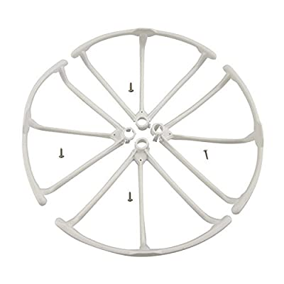 SODIAL(R) Upgrade Propeller Guards Protectors for Hubsan H502E H502S Drone RC Quadcopter Spare Parts Replacement (White)