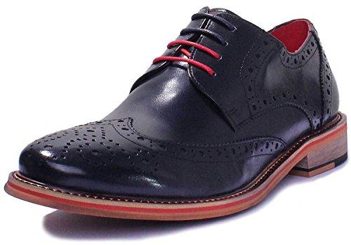 Justin Reece aus mattem Leder D200 6 Herren Schuhe, Dunkelblau, 48 EU -