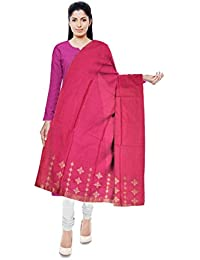 Mubarakpur Weaves' Women's Cotton Silk Handloom Dupatta (Pink) - B077YXYTXG