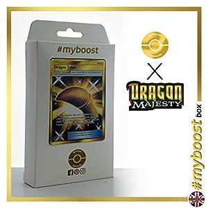 Dragon Talon (Espolón de Dragón) 75/70 Entrenadore Secreta - #myboost X Sun & Moon 7.5 Dragon Majesty - Box de 10 cartas Pokémon Inglesas