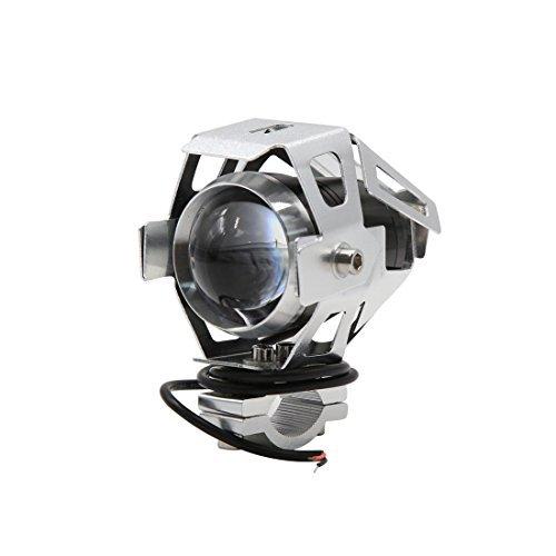 DealMux ton d'argent 125 W Moto U5 LED Blanc Conduire Phare antibrouillard lumière du point