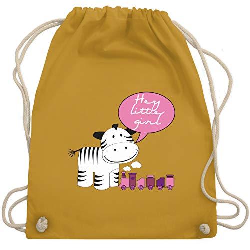 Tiermotive Kind - Hey little girl Zebra Zug - Unisize - Senfgelb - WM110 - Turnbeutel & Gym Bag -
