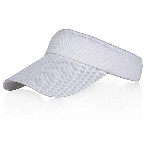 d5c0e423b9647 Veatree Adjustable Sun Visors for Women and Men, Long Brim Hats Caps for  Cycling Fishing Tennis Running Jogging and other Sports, White