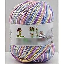 Fendii – Hilo de algodón para ganchillo clásico, ganchillo hilo para tejer de 50g por bola
