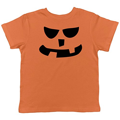 Crazy Dog TShirts - Toddler 2 Teeth Square Nose Pumpkin Face Funny Fall Halloween Spooky T shirt (Orange) 5T - baby-jungen - 5T (Beängstigend T Shirt)