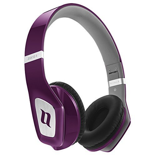 Noontec Zoro II - Auriculares de diadema cerrados, púrpura