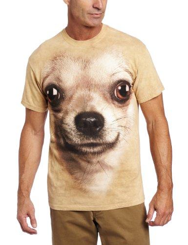 The Mountain Männer Chihuahua Face T-Shirt Braun