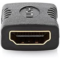 deleyCON HDMI zu HDMI Adapter Kupplung HDMI Buchse zu HDMI Buchse vergoldete Kontakte, Schwarz