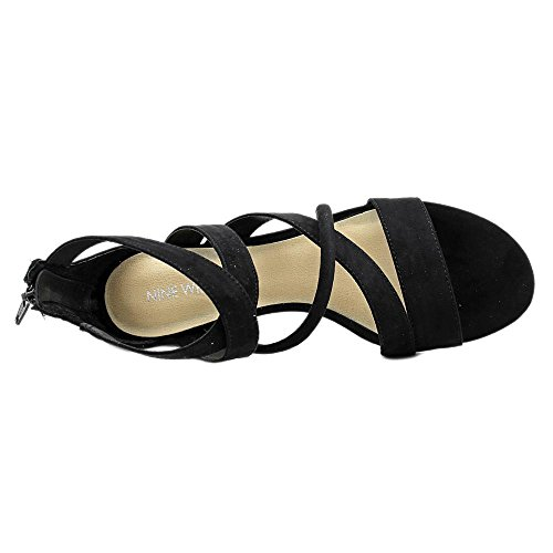 Nine West Hazel Toile Sandales Gladiateur Black