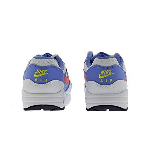 Nike Mädchen Air Max 1 Sneaker Blanco / Amarillo / Azul (White / Brght Mango-Chlk Bl-Cnry)