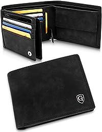 GenTo® Brooklyn Herren Geldbörse mit Münzfach - TÜV geprüfter RFID, NFC Schutz - geräumiges Portemonnaie - Geldbeutel für Männer - Portmonaise inkl. Geschenkbox | Design Germany