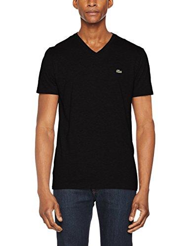 Lacoste Herren T-Shirt Th6604, Schwarz (Noir), Medium (Herstellergröße: 4)