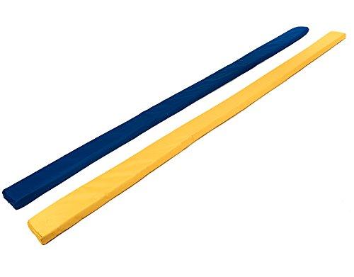 Sportikel24 Pferde-Gasse, Bodenarbeitsstange, Schaumstoffstange, Übungsstange, Trabstange, Vorlegestange, gelb und blau, für Mental-Training und Bodenarbeit beim Pferd