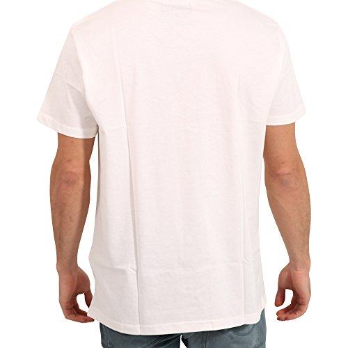 JACK & JONES ORIGINALS Herren T-Shirt WEIGHT in Weiß cloud dancer