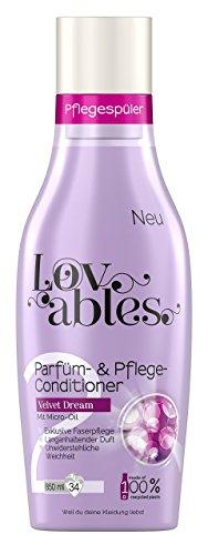 Lovables Velvet Dream Parfüm- und Pflege-Conditioner, Weichspüler, mit Micro-Oil, 5er Pack (5x 850 ml)