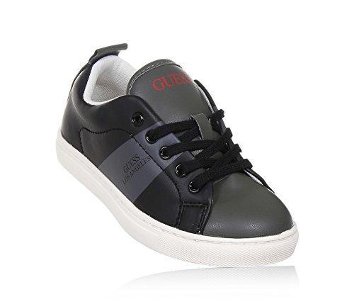GUESS - Schwarzer Schuh mit Schnürsenkeln aus Leder, Jungen, Herren-33 (Kinder Guess Schuhe)