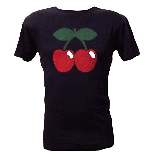Pacha: T-shirt Uomo Nero con Logo Ciliegia Basic - Nero, L - Large