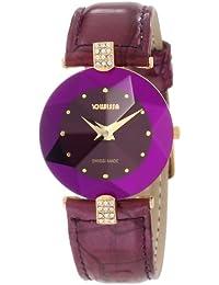 Jowissa J5.015.M - Reloj para mujeres, correa de cuero color morado
