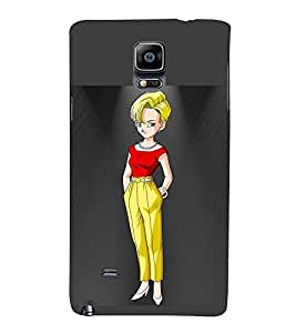 Vizagbeats staring girl in yellow pants Back Case Cover for Samsung Galaxy Note 4
