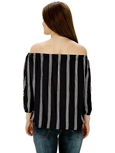 Damen-Mode-Womens-Top-Dmlt8000BlackFree-Size