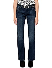 53b711252b788 s.Oliver RED LABEL Damen Smart Bootcut: Used-Jeans Blue Denim Strech 38.36