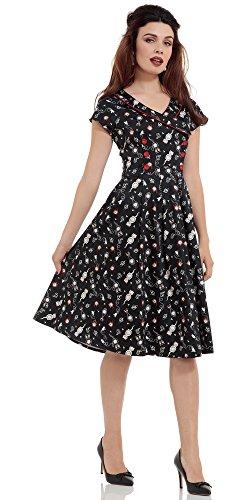 Voodoo Vixen Kleid KAT DRESS 8259 Schwarz XXL