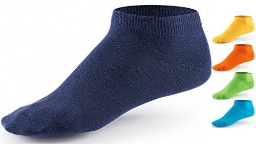 10 Paar Sneaker Socken von Mat & Vic's für Sie und Ihn - Cotton classic - 35 36 37 38 39 40 41 42 43 44 45 46 47 48 49 50 - bequem ohne drückende Naht - angenehmer Komfort-Bund - entspricht OEKO-TEX Standard 100 (43-46, Trendy Colors / bunt)