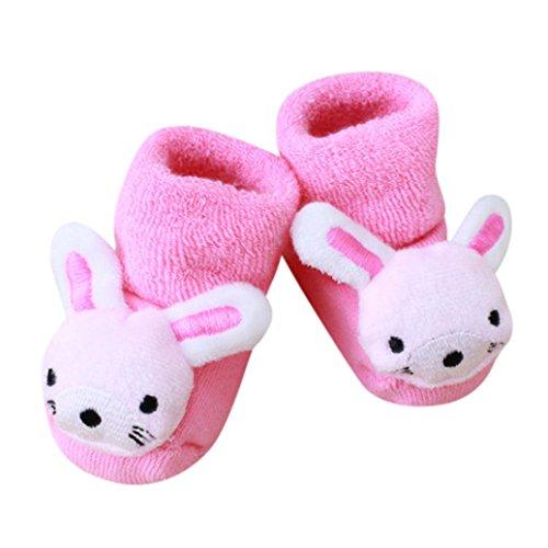 Kuscheltier Babysocken, FNKDOR 0-1 Jahr Baby Baumwolle Elastizität Born Schuhe Söckchen (B)