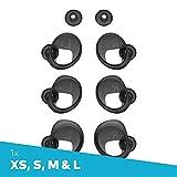 Bragi FitSleeves Set (XS, S,M,L), The Dash Pro Zubehör Schwarz - Silikon Kopfhörer Aufsätze