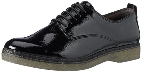 Tamaris Damen 23710 Oxfords, Schwarz (Black), 40 EU