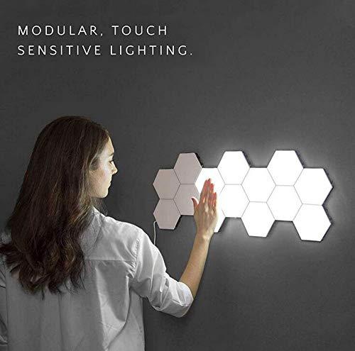 Kreative DIY Waben Lampe LED Spleißen Quantum Nacht Modernes Design Kreative Geometrie Montage Dekorative Lampen Touch Sensor Licht Geeignet Für Wohnzimmer,8 - Split-ring 8 5