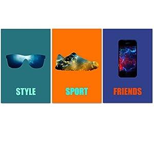 3 Junge Plakate Teenager, Geek, (Teenager), Knaben-Deko, style, sport, Teenager-Geschenk.